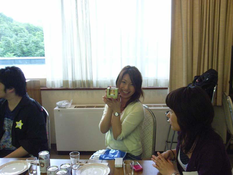 釧路の学生で、アナウンサーのような人でした。
