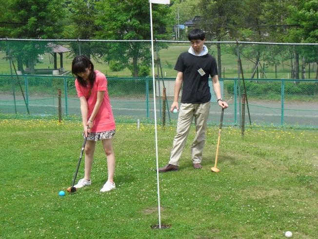 ゴルフのスコアも◎だった頼田さん。